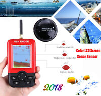 Portable Fish Finder Fishfinder Depth Finder Rechargeable Wireless Sonar Sensor