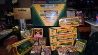 LOT of Crayola Collectors Colors Limited Edition Tin with Crayons Trucks Toys BG