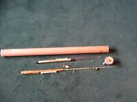 VINTAGE BAMBOO FLY FISHING POLE ROD INTUBE HOME MADE?