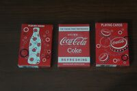 Coca Cola Playing Cards Set of 3