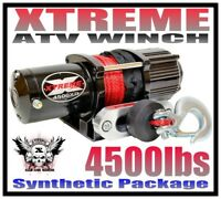 4500LB XTREME ATV WINCH 4500 HD WATERPROOF KIT FULL METAL HOUSING