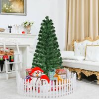 5'/6'/7' Fiber Optic Artificial Christmas Tree with LED Lights Party Decor Green