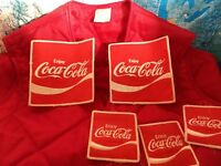 Vintage Coca Cola Coke New Old Stock Patches Vest Jacket Advertising Clothing...
