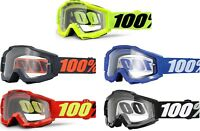 100% Adult Accuri Over The Glasses Dirtbike ATV Goggles - MX Motocross Dirtbike