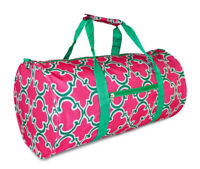 Colorful Geometric Print Duffle Duffel Bag Travel Gym Overnight Womens Weekender