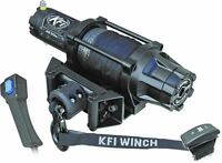 KFI Assault Series WIDE Winch AS-50W 5000 LB Synthetic Cable Rope ATV UTV