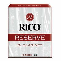 Rico Reserve Bb Clarinet Reeds, Strength 3.0, 10-pack