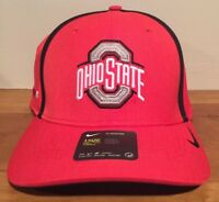 cheaper 2f698 7c6ff NIKE OHIO STATE BUCKEYES Red NCAA DRI-FIT AEROBILL COACHES SIDELINE Hat Cap