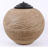 Exceptional David Shaner Sgraffito Decorated Covered Pot - Archie Bray