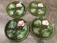 MAJOLICA PLATE SARREGUEMINES FRANCE WATER LILY