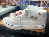 538a03b053 Vans Half Cab (Peanuts) Snoopy Family Marshmallow US Men 10.5 VN000DZ3NVY  New