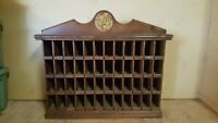 Antique Store Display Cabinet - Flavor Mill Spice Display Rack