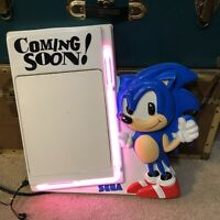 Rare Vintage SEGA Sonic The Hedgehog quot;Coming Soon quot; Dry Erase Board Neon Sign