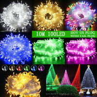 LED Christmas Tree Fairy String Party Light Outdoor Indoor Xmas Wedding Lamp USA