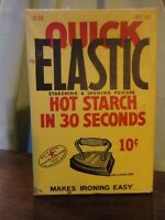 Quick Elastic Hot Starch Ironing Powder Advertising Box Full 12 oz Vintage