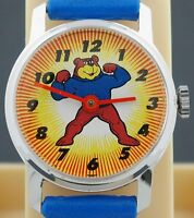 Vintage Bradley Super Sugar Bear Advertising Cereal Character Watch in Box