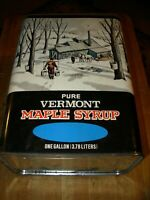 Bank, Pure Vermont Maple Syrup Advertising Tin Can/Bank, Vintage