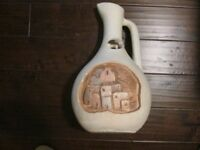 Acoma Village Comanche Land Imports Pitcher Jug Pottery Signed P Mora