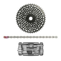 SRAM XG-1295 X 01 Eagle 12-Speed Bike Cassette with Eagle Chain and Multi Tool