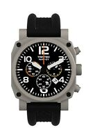 NEW Trintec NAV-01 Chronograph / Stainless Professional Pilot Watch w/extra band