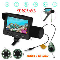 15M 1000TVL Fish Finder Underwater LED Fishing Video Camera 4.3