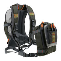 MagiDeal Fly Fishing Chest Pack / Backpack Adjustable Multi-Pockets Bag