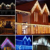 5-25 Meter Xmas Snowing Icicle LED Fairy String Lights 8 Modes Indoor Outdoor US