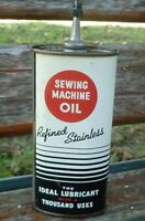 Sewing Machine Oil Refined Stainless Oval Lead Spout Handy Oiler Can 4oz