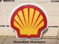 SHELL Gasoline Service Station Lighted Clamshell Sign - New LED Lighting