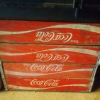 VINTAGE WOODEN COCA COLA CRATE BOX STORAGE  COKE CASE CARRYING TRAY