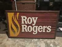 RARE Vintage Wooden Roy Rogers Restaurant Sign Store Display Fast Food Ad 32