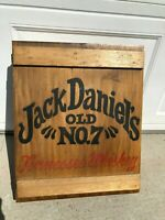 Jack Daniels Old No 7 Old Time Tennessee Whiskey Wooden Box Crate 19x15.5x5