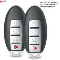 2*Replacement Smart Remote Key Fob 4B for Infiniti M35 M45 2006 2010 CWTWBU618 $28.43