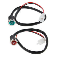 2Pcs Neutral Reverse Motorcycle N R Light Indicator ATV Light Gear For 50 250cc
