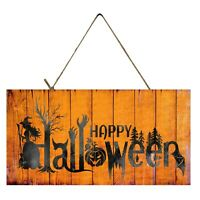 Orange Happy Halloween Printed Wood Sign