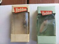 3 vintage Heddon Sonic lures NOS, 2 research lures