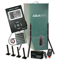 Fish Feeder For Pond Lake Directional 12V Battery, Solar Panel and Foot Pad Inc.