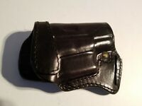 Vintage Shado Leather Driving Crossdraw Horizontal Holster for GLOCK G26