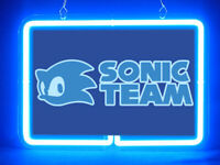 Sonic Team Video Game Man Cave Hub Bar Shop Advertising Neon Sign