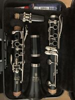 Yamaha YCL 200 ADI Clarinet In Case With 7 Reeds and A Used Cork Grease Stick