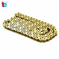With O-Ring Drive Chain Gold Color 520 x114 ATV Motorcycle 520 Pitch 114 Links