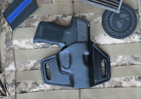 Vertical Carry for Sig Sauer P365 Leather Holster OWB Made in USA.