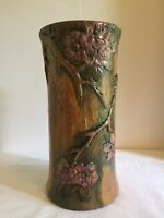 """Weller Pottery Flemish Vase 10 1/2"""" Tall X 5 """" Wide Woodland Series Very Rare."""