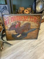 Original Vintage MY MOTHERS PLACE Restaurant Wooden Carved Advertising Sign
