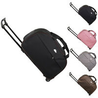 Duffle Bag 24quot; Rolling Wheeled Trolley Bag Tote Carry On Luggage Travel Suitcase