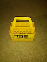 VINTAGE-TAB-COCA-COLA  CO.-PLASTIC SIX PACK CARRIER-YELLOW