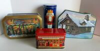 Nestle Winter Cabin Callard Bowser Toffee Brachs Nutcracker Tin Vintage Lot Of 4
