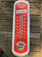 Vintage Little Debbie Advertising Country Store Tin Thermometer Working Sign old