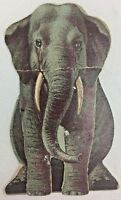 Magic Yeast Menagerie Die Cut Gray Elephant Victorian Trade Card Stand Up