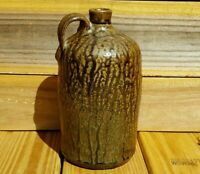 Rare Signed Crawford County GA Pottery Jug Old Antique Georgia Southern Pottery